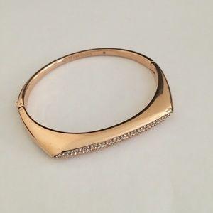 Michael Kors Tribal Pave Gold Tone Hinged Bracelet
